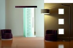 Casali-glass-door-sliding-porta-vetro-scorrevole-Occhi-di-gatto_fondo-sabbiato
